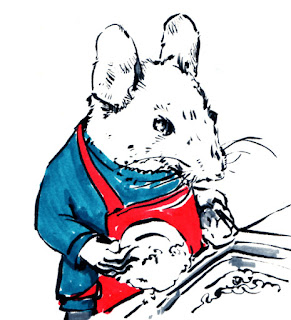 a mouse washing up