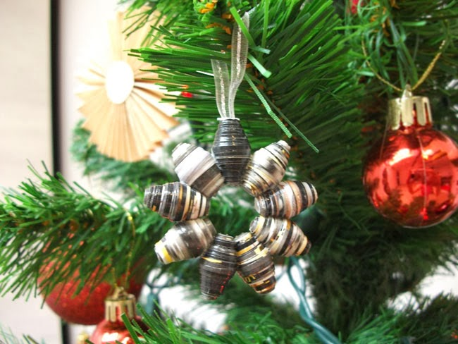 paper beads christmas decoration