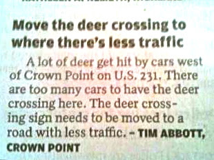 move the deer crossing