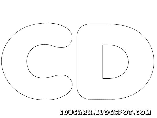 Molde de letras grandes cd