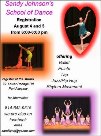 8-5/6 Sandy Johnson Dance Registration