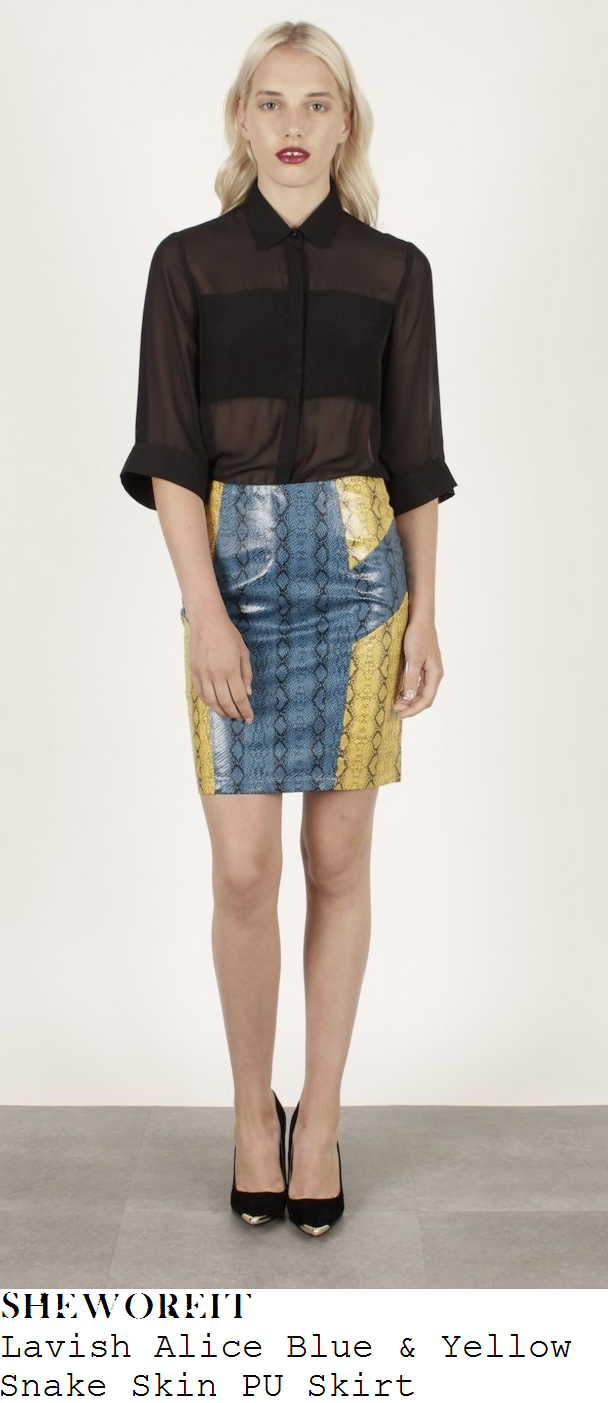rosie-fortescue-blue-and-yellow-snakeskin-print-pu-skirt