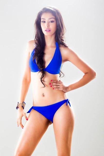 Miss India in Hot Blue Bikini