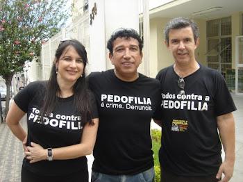 Marta Lança, Senador Magno Malta e Pr. Jânio, em Campo Belo/MG - TODOS CONTRA A PEDOFILIA