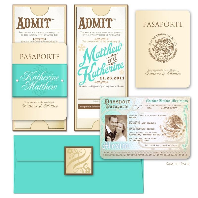 Simple Wedding Invitations Passport Wedding Invitations