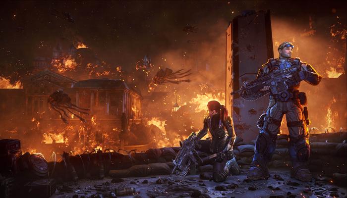 Apocalíptico artwork de Gears of War: Judgment
