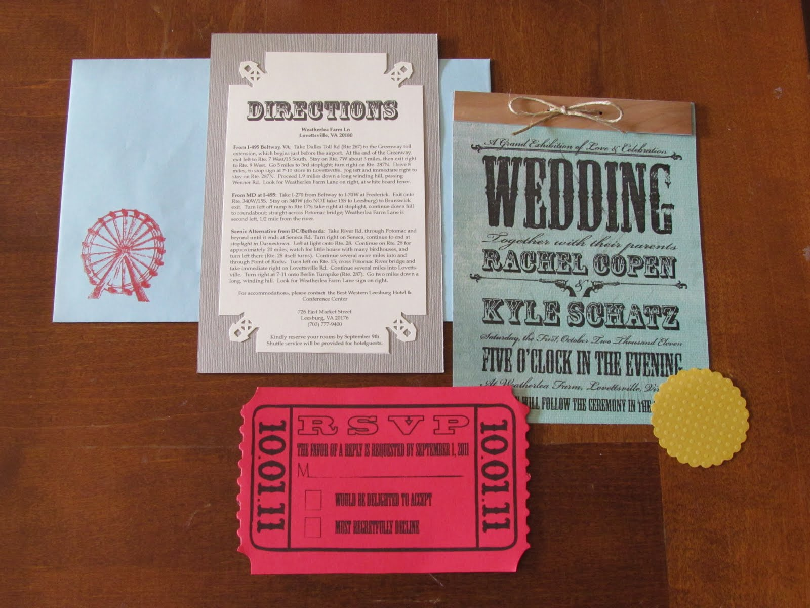 Another Crafty Day: Citra Solv Wedding Invitations
