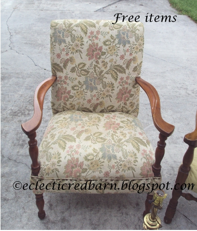 Eclectic Red Barn: Upholstered print chair