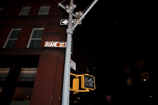 Duane St City Street Sign