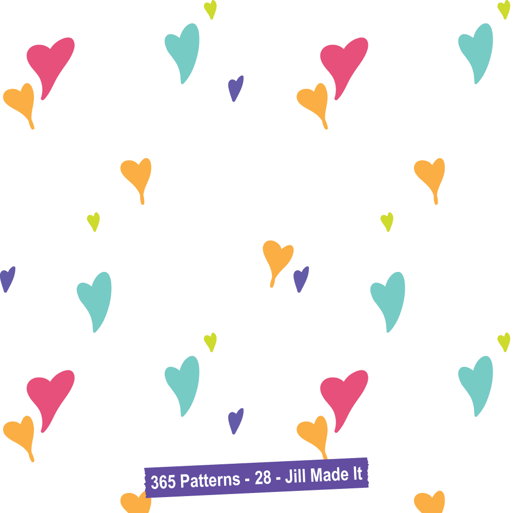 365 Patterns:  Hand Drawn Hearts 2