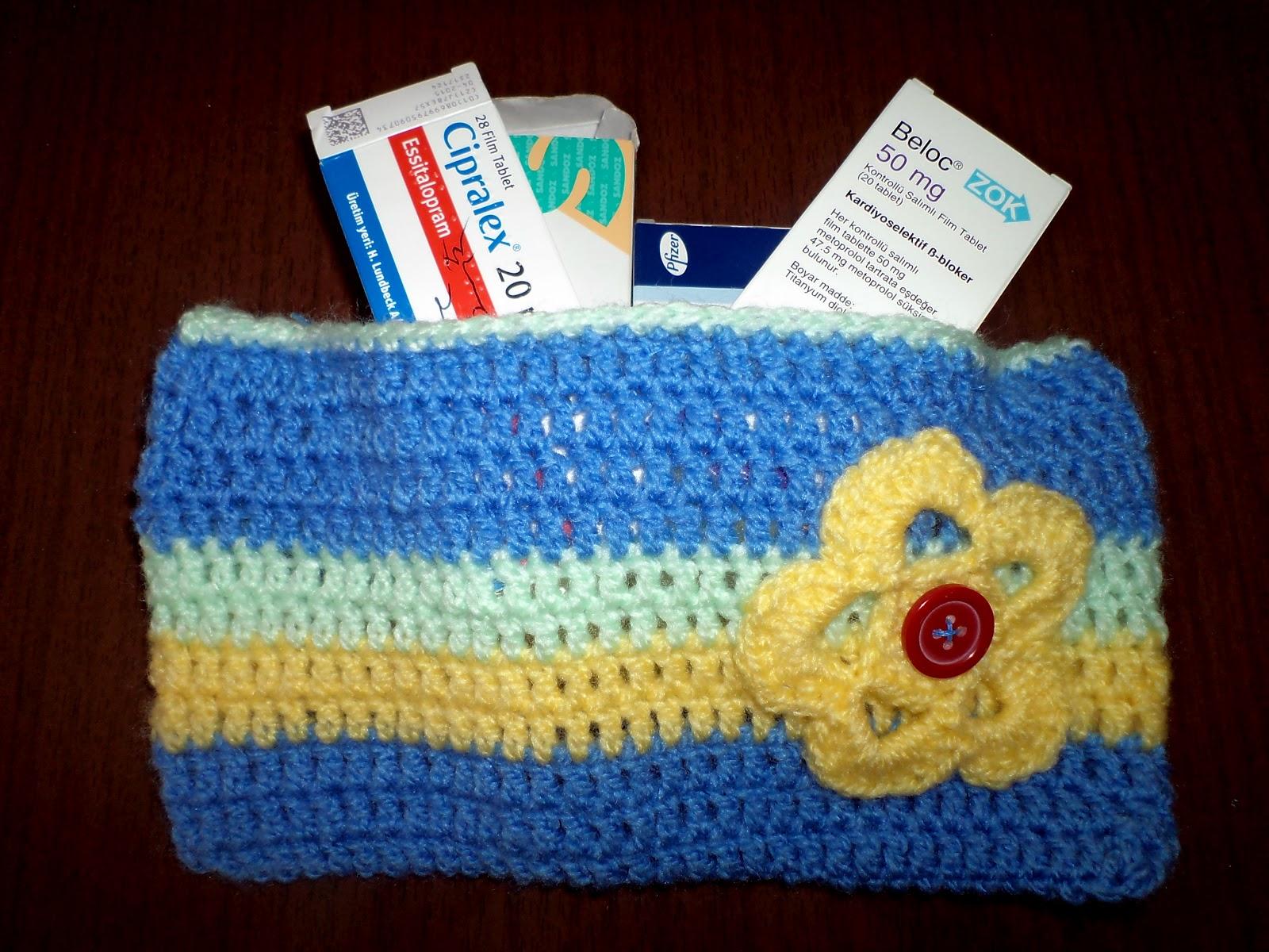 Crochet Medicine Bag Pattern : BECK to Vintage: Crochet Stripe Bag..
