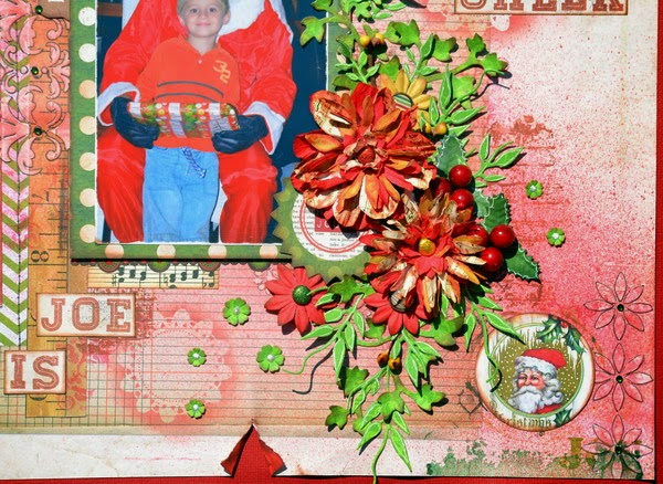 Joe is Christmas Cheer Scrapbook Layout by Denise van Deventer using BoBunny Christmas Collage 04