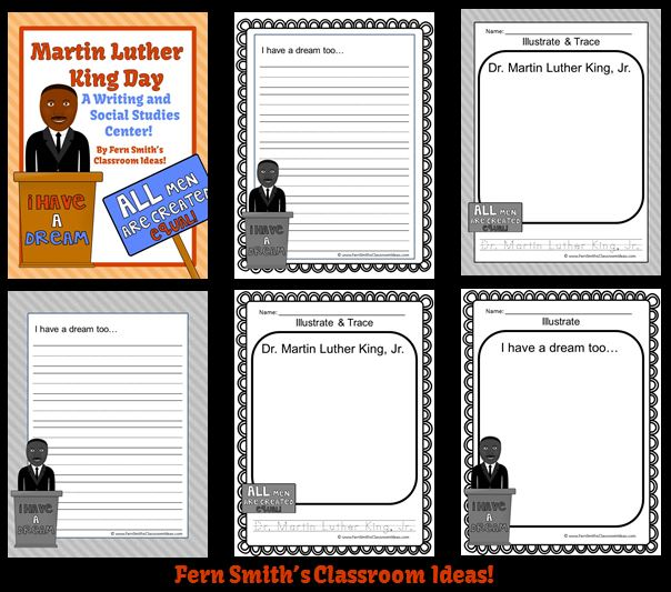 http://www.teacherspayteachers.com/Product/Martin-Luther-King-Jr-Writing-and-Social-Studies-Center-1027300