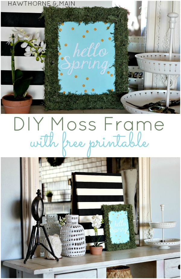 DIY Moss Frame with FREE Printable from This Silly Girl's Life