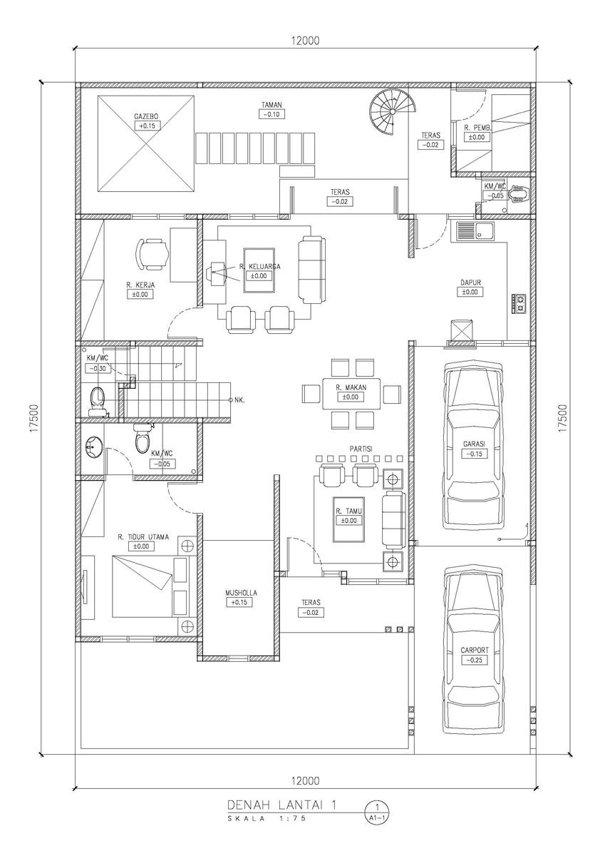 belajar desain rumah minimalis denah desain rumah