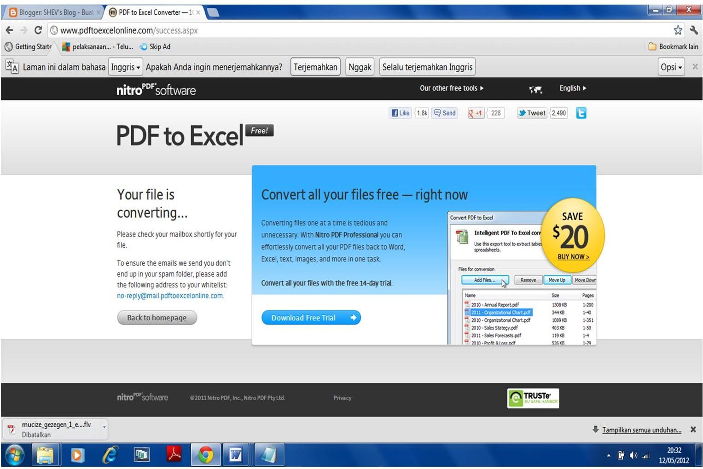 merubah file pdf ke excel