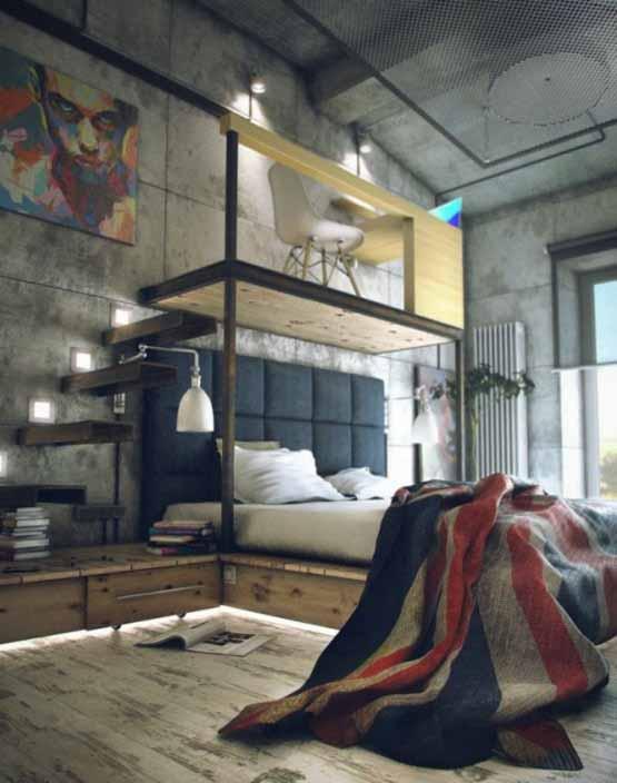 desain interior rumah, desain rumah casual dan industrial