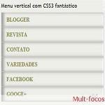Menu vertical com CSS3 fantástico