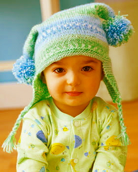 Knitting Pattern For Baby Jester Hat : Miss Julias Patterns: Free Baby Hat Patterns