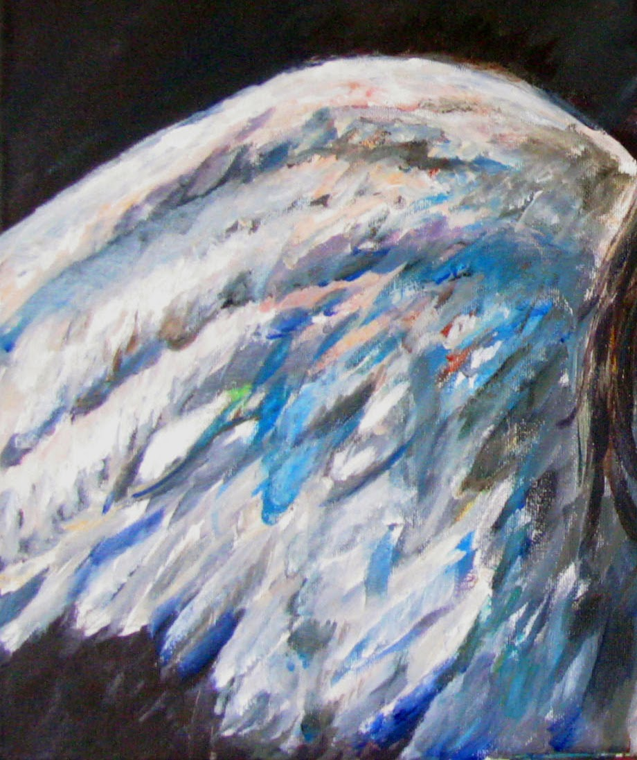 denise crute m d 2013 little wing acrylic on canvas 20 x 24 by dr denise crute