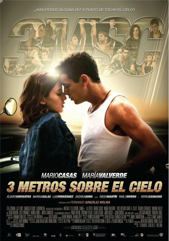 """cartaz filme """"Paixão sem limites"""" - """"3 metros sobre el cielo"""""""