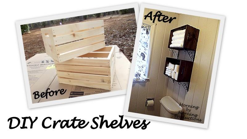 Crate Wall Storage Idea Bathroom