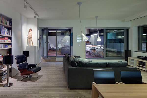 hogares frescos tragaluces circulares en un loft