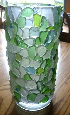Seaglass vase