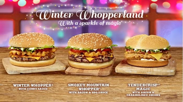 Burger King Winter Whopperland Christmas 2013 Burgers