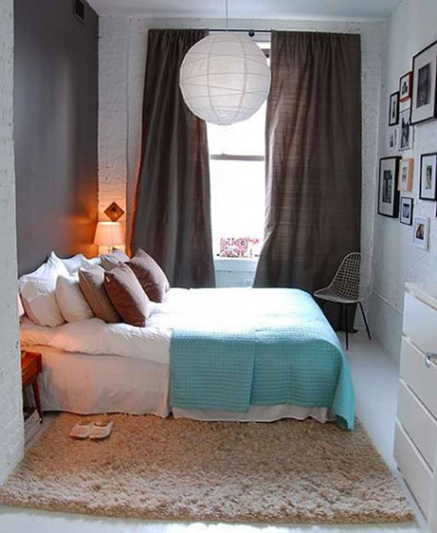 This Is One Of The Best Examples Of Making The Most Of A Small Bedroom. The  Excellent Arrangement Of The Furniture And The Light Color Make The Room  Seem ...