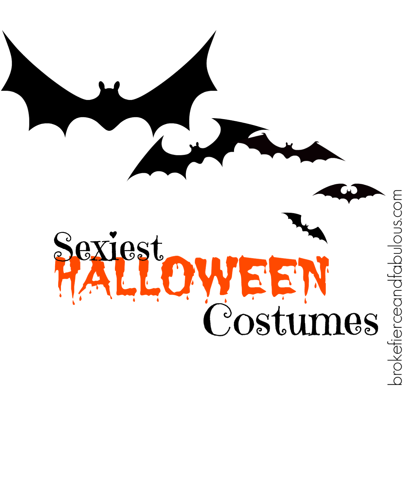 title, sexiest halloween costumes, hottest costumes, halloween costumes, halloween, bats, black bats, pinnable halloween banner