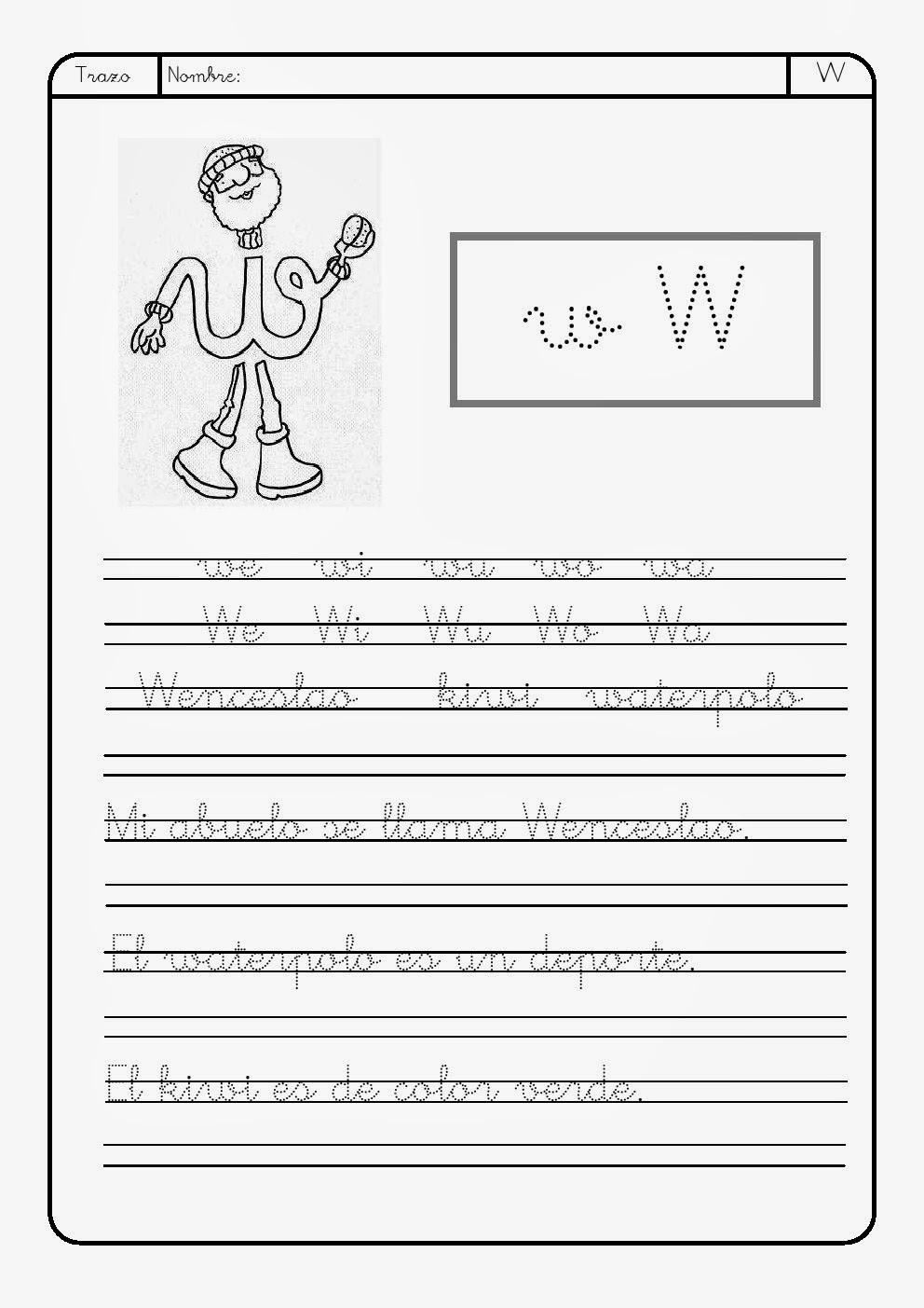 Letra W   w ~ La Eduteca