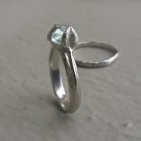 Raw Uncut Blue Sapphire Bridal Set, Twig Engagement Ring, Leaf and twig Wedding Set Bridal Set Promise Ring Statement Ring Stacking Ring