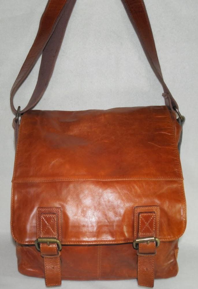Fossil Brand Vintage Messenger Tote Bag
