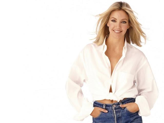 Actress Heather in Jean - Shirt fashion