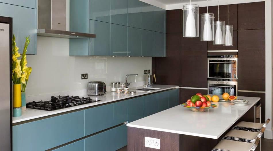 Soluciones de vidrio para la pared frontal de la cocina - Cocinas de cristal ...
