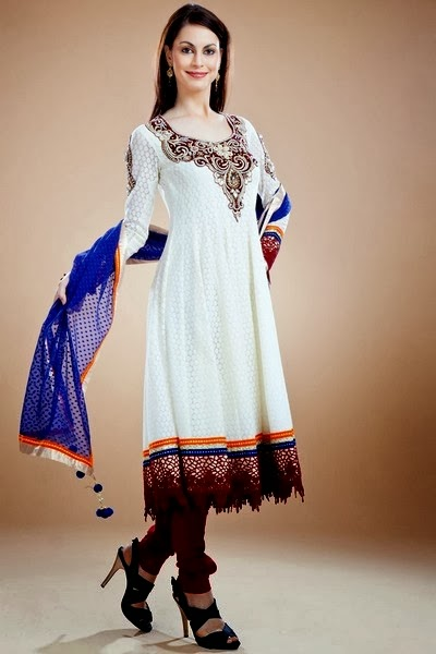 Latest Stylish Beautiful Anarkali Suits Collection 2014 For Women