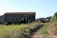 Façana nord de la masia de Casagua