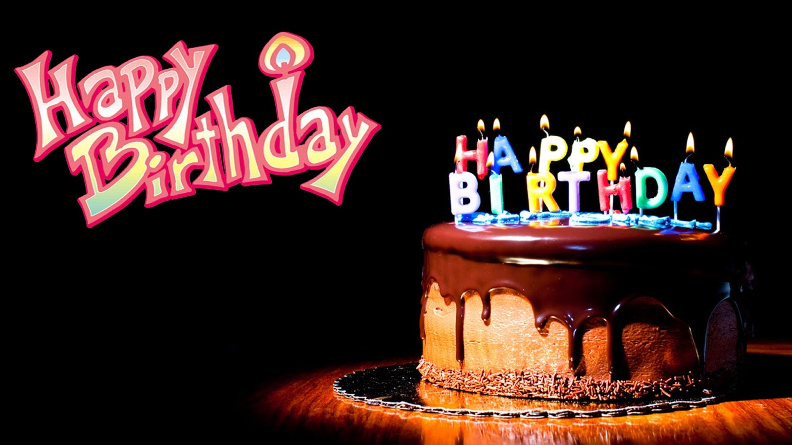 Happy-Birthday-Chocolate-Image-In-Night-HD-Wide