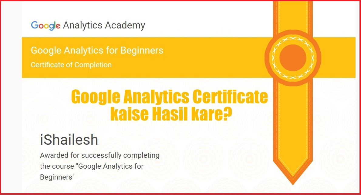 Google Analytics Certification Kaise Hasil Kare Step By Step Full
