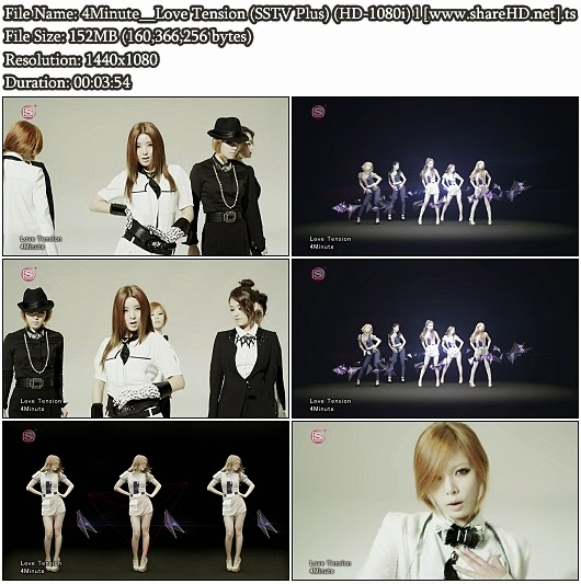 Download PV 4Minute - Love Tension (SSTV Plus Full HD 1080i)