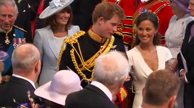 Prince Harry and Pippa Middleton enjoy a giggle. YouTube 2011.