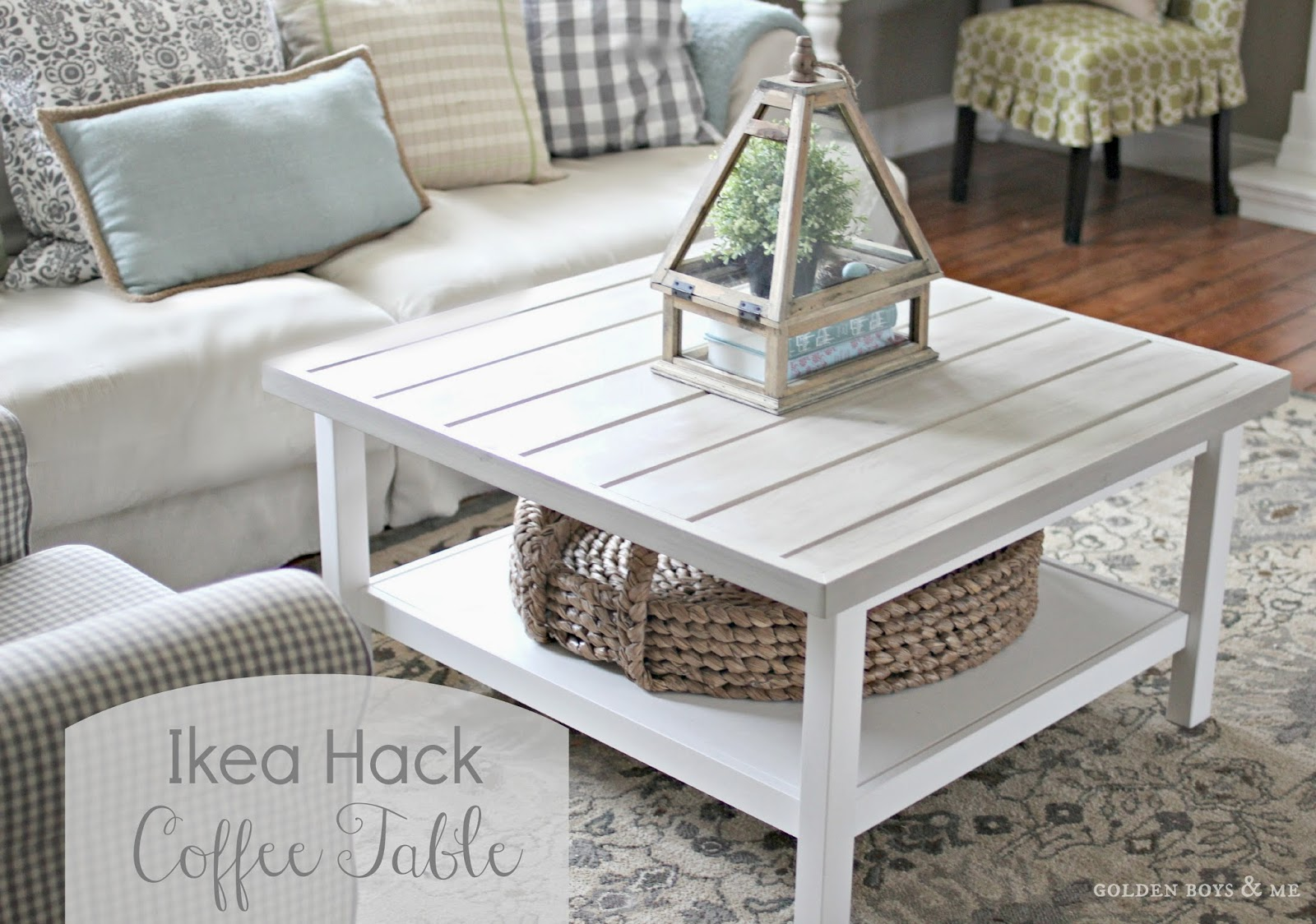 Ikea Hack Hemnes Coffee Table With Planked Top   Www.goldenboysandme.com