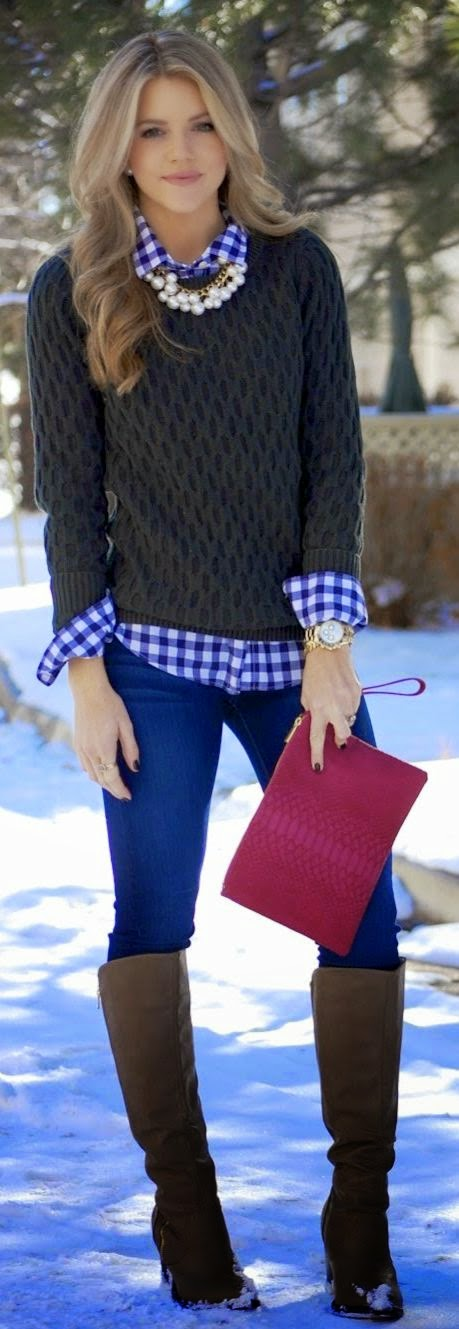 Good Girl Gone Plaid Shirt - Red + Navy