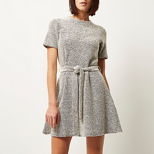 river island boucle dress, river island textured dress, bobbly dress,