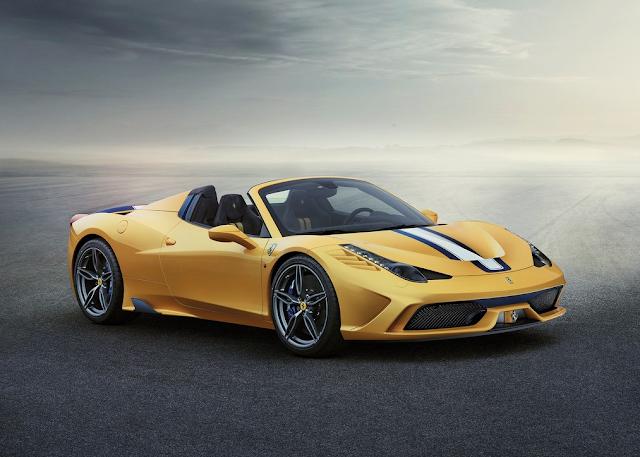 2015 Ferrari 458 Speciale A yellow