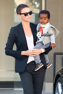 Charlize Theron and baby Jackson