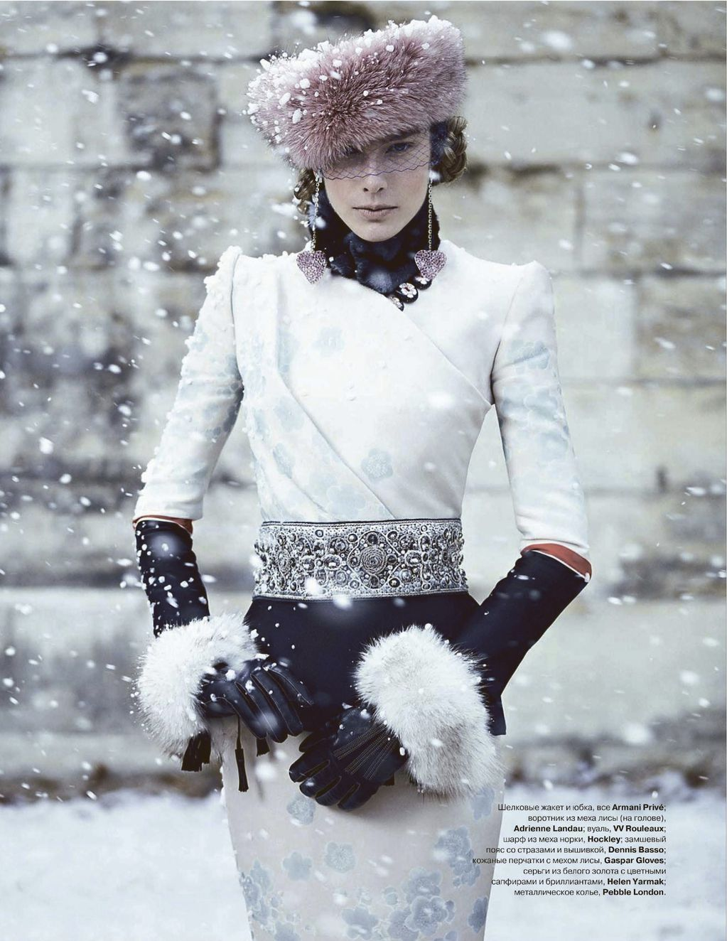 The Wawidoll Fashion Files Madeleine De La Motte In Snow Queen By Thomas Whiteside For Tatler