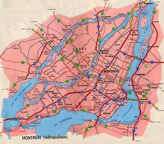 Plan de Montreal - Montreal map