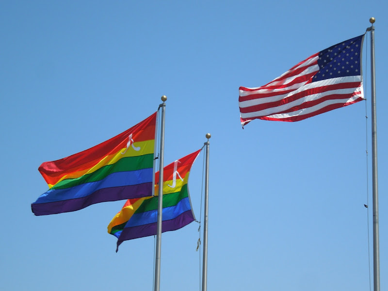 West Hollywood permanent Pride flags